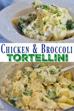 Chicken and Broccoli Tortellini is a great recipe to have on hand for weeknight dinners. Simple and healthy, your family will love this recipe and it is made in one pot for easy clean up. dinner simple Chicken and Broccoli Tortellini Easy Cooking, Healthy Cooking, Cooking Recipes, Healthy Recipes, Cooking Ideas, Healthy Food, Cooking Light, Healthy Eating, Pasta Recipes