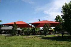 4 Post Hip Shade Structure. Burlington, NC  http://www.korkat.com