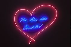 Tracey Emin, The Kiss Was Beautiful, 2013, neon, 115.8 x 126.2 cm