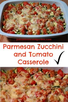 Parmesan Zucchini and Tomato Casserole