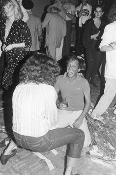 Margaret Trudeau and Steve Rubell at Studio 54