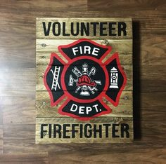 Excited to share the latest addition to my shop: Firefighter Wooden Pallet Sign Wooden Pallet Signs, Wooden Pallet Crafts, Wooden Pallet Furniture, Diy Pallet Projects, Wooden Pallets, Wood Projects, Woodworking Projects, Pallet Wood, Pallet Ideas