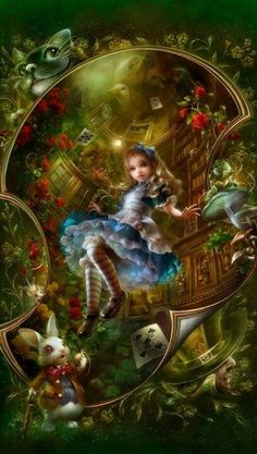 Alice Falling Down The Rabbit Hole