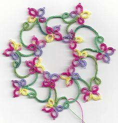 Tatted by Sue Bradham and posted to FB. Pattern is by Elaine Gan (Tatting Box) and is in her first book: http://www.craftsy.com/pattern/other/tatting-patterns/107500?rceId=1460056595861~jptryjfa