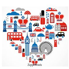 London love - heart with many vector icons Clipart London Icons, London Map, London Free, London Landmarks, Cat Vector, Vector Art, Vector Icons, Heart Art, Love Heart