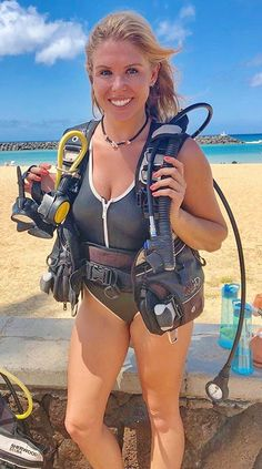 Bahamas: Diving And Water Adventures Women's Diving, Diving Suit, Female Cyclist, Bikinis, Swimsuits, Scuba Diving Gear, Womens Wetsuit, Sport Girl, Sports Women