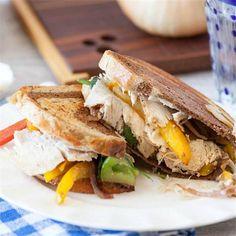 Turkey Fajita Panini by @FoodDoneLight - #KeepOnCooking #Entree #Entrée #Poultry #Sandwich