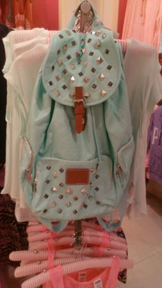 Victoria's Secret PINK Aqua Studded Backpack....been lusting after this.for a while.