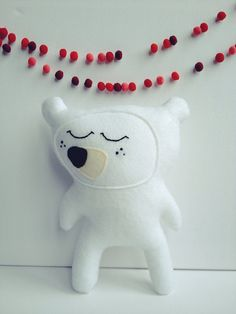 Paul the great white bear, plush by virginiejolie