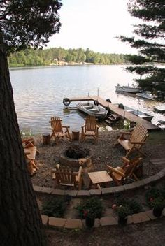 100 Lakefront landscaping ideas | backyard, backyard ... on Lakefront Patio Ideas id=62947