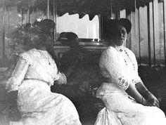 "Empress Alexandra Feodorovna of Russia with the Grand Duchess Maria Nikolaevna Romanova of Russia. ""AL"""