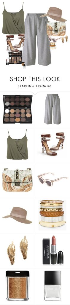 """""""Nude"""" by claire86-c on Polyvore featuring moda, Carin Wester, Miss Selfridge, Posh Girl, Valentino, CÉLINE, Topshop, Chico's e Butter London"""