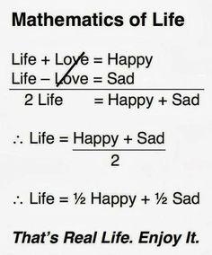 Mathematics of Life, funny Math Quotes Sad Life Quotes, Life Lesson Quotes, Reality Quotes, True Quotes, Words Quotes, Quotes Quotes, Life Choices Quotes, Humour Quotes, Sayings