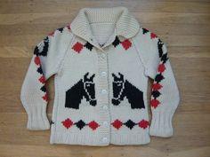 Vintage children's western horse sweater.