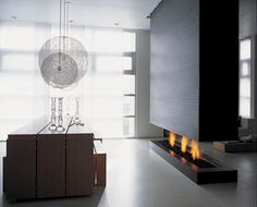 the modern fireplace | Through the Front Door