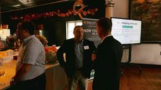 A Taste For Reviews customer event - Our CEO Peter conversing with our guests.