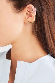 Charlotte Chesnais - Naho Silver Ear Cuffs - one size