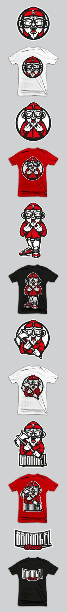 BroAngel Brand by Akuma101 , via Behance
