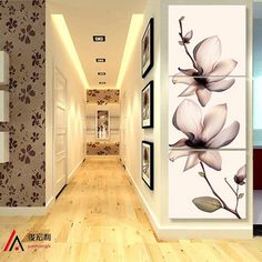3 Pieces Lotus Art Paintings Corridor Canvas Prints for Living Room Modular Picture Decor Artwork on the Wall Canvas Art Framed - TakoFashion - Women's Clothing & Fashion online shop 3 Piece Canvas Art, Diy Canvas Art, Canvas Wall Art, Canvas Prints, Art Gallery Wedding, Tulip Painting, Lotus Art, Canvas Pictures, Wall Pictures