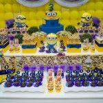 imagens de decoração de festa infantil tema minions