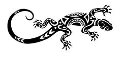 Disegno per tatuaggio maori geco