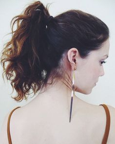 porcupine quill post earrings // simple & unique