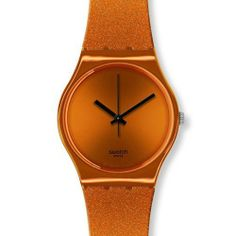 Swatch GO111 deep orange dial shiny orange plastic strap unisex watch NEW Swatch. $54.34. Band Color: shiny orange. Condition:Brand new with Tags. Brand:SWATCH. Dial color: orange. Model: GO111
