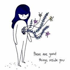 There are good things inside you. Love yourself first Dear ♡ Selbstliebe Bild und Spruch Pretty Words, Beautiful Words, Positive Vibes, Positive Quotes, Positive Art, Body Positive, The Words, Note To Self, Happy Thoughts