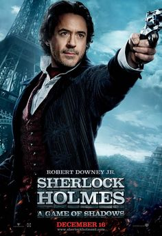 Cartel personaje Sherlock Holmes en Sherlock Holmes 2: Juego de Sombras
