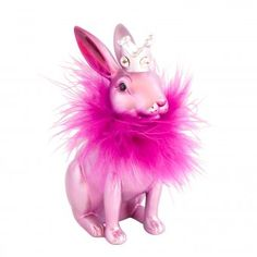 Gift Company Figurine Bunny Princess pink - The pink and fluffy, feathered bunny is an inspiration when it comes to special Easter deco ideas! Design3000, Pink Gifts, Girly Things, Girly Stuff, Easter Bunny, Things To Come, Christmas Ornaments, Princess, Holiday Decor