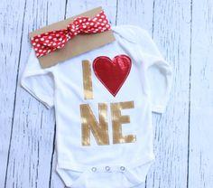 Nebraska onesie// shirt huskers nebraska football, husker baby