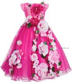 ALALOSHA: VOGUE ENFANTS: Must have of the Day: Stunning flowers dress by Lesy Luxury Flower
