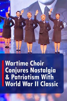 """The D-Day Darlings made famous by Britain's Got Talent to come together for a brilliant performance of the World War II classic """"We'll Meet Again"""" by Vera Lynn. As if transported back to the '40s, the spirited songbirds remind us of how the British people once stood strong and sturdy, meaningful outpourings of emotion like this. #DDayDarlings #BGT #BritainsGotTalent"""