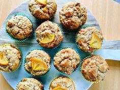 Persimmon Hummingbird Cupcakes Hummingbird Cupcakes, Persimmon Recipes, Sifted Flour, Paper Cupcake, Healthy Baking, Brown Sugar, Eat, Cooking, Breakfast