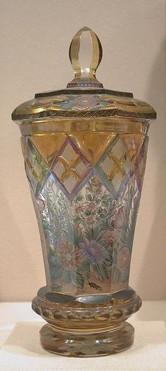 Bohemian Glass Goblet With Cover   c1840-1850