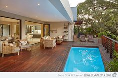 Image result for pool wooden deck