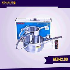 Vinod Steel Induction Saucepan 14 Cm #household #kitchen #appliances #online #menakart #shopping #home