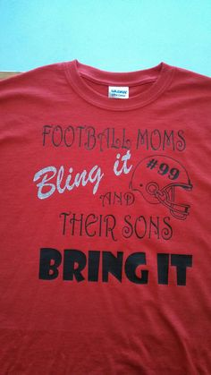 Personalized Football TShirt for Mom by BackroadGraphics on Etsy, $17.00
