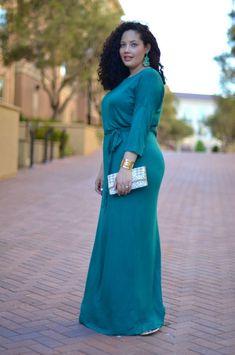 Vestidos para tallas grandes: fotos modelos - Festido largo
