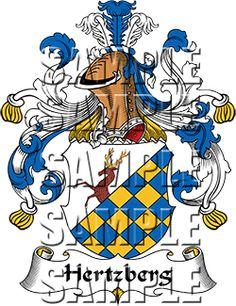 Hertzberg Family Crest apparel, Hertzberg Coat of Arms gifts