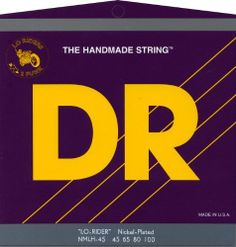 DR Strings Nickel Lo-Rider - Nickel Plated Hex Core Bass 45-100 by DR Strings. $24.14. Gauges 45-65-80-100. Nickel Lo-Riders nickel-plated bass strings feature hexagonal cores wound with nickel-plated steel for a softer feel and a traditional warm nickel sound. Lo-Riders bass strings are even, long lasting, and loud with midrange growl. Excellent for fretless basses.