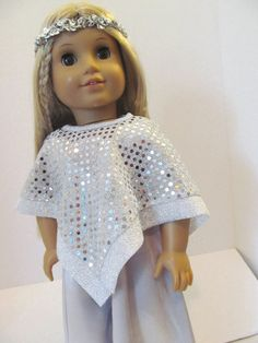 American Girl Doll Clothes   Jumpsuit  Poncho by fashioned4you