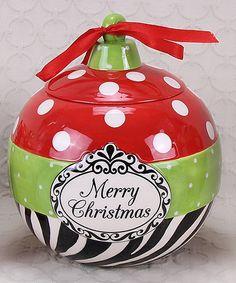 Love this 'Merry Christmas' Cookie Jar on #zulily! #zulilyfinds