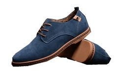Men Suede Cow Split oxfords california casual shoes flats European style