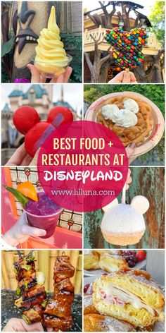 An extensive list of all the best Disneyland Restaurants, snacks and treats that you can find at the parks. From the famous Churros to the Dole Whips, we're covering it all along with links to menus, prices and more.Informationen zu Best Disneyland F Disneyland Paris, Best Disneyland Restaurants, Best Disneyland Food, Disneyland Dining, Disneyland Secrets, Walt Disney World Vacations, Disney Dining, Snacks, Treats