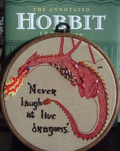 A Beaded Smaug Embroidery - NEEDLEWORK