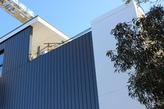    The York, Brunswick    Some shots from onsite yesterday COLORBOND steel Express Panel in Monument & Windspray to four multi-storey apartment buildings for BuildCorp. #theyork #westbrunswick #industrycladding #metalcladding #buildcorp