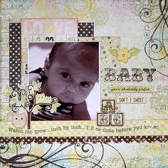 cute baby scrapbook page idea
