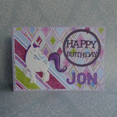 Unicorn birthday card Personalised birthday card Handmade