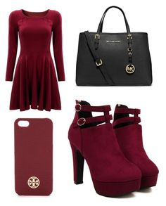 Rocking in Red❤️ by morgannicole648 on Polyvore featuring polyvore, fashion, style, MICHAEL Michael Kors and Tory Burch